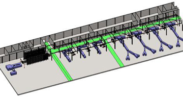 钢丝压延大卷帘布自动存储输送系统-轮胎生产领域